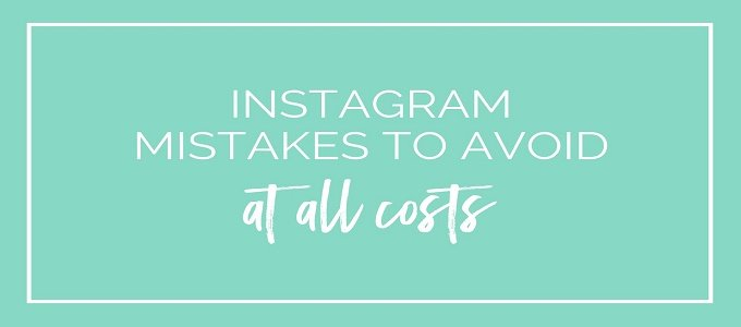 Common Mistakes People Make Trying To Grow On Instagram